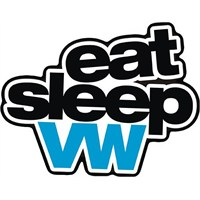 Eat Sleep Vw Sticker 10'Lu Paket