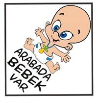 Arabada Bebek Var Renkli Sticker 10'Lu Paket