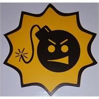 Bomba Surat Sticker 10'Lu Paket Sarı