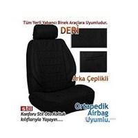 Stil Avangard SİYAH İthal Winleks DERİ Koltuk Kılıfı (30175)