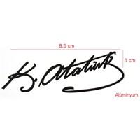 Modacar Siyah Atatürk İmzası Aliminyum Sticker 104041