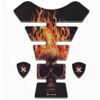 Tex Tx 14 Universal Burning Skull Xrace Tank Pad