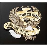 Hıghway Hawk 01-561 Amblem Lıve To Rıde Büyük