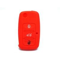 Gsk Volkswagen Golf Kumanda Kabı Koruyucu Kılıf 3 Tuş Kırmızı 2000-2009