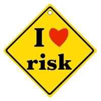 "Z tech ""I Love Risk "" Sticker 9x9cm"