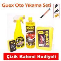 Guex Oto Yıkama Seti (Cilalı Şampuan,Sünger,Lastik Parlatıcı + Çizik Kalemi )-2522A