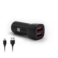 Swisscharger SCH 30038 Universal Araç Şarjı 2 USB'li ve Lightning(iPhone5/6) kablolu
