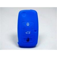 Gsk Skoda Roomster Kumanda Kabı Koruyucu Kılıf 3 Tuş (Mavi)