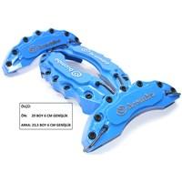 Brembo Kabartmalı Mavi Ön-Arka Kaliper Kapak Seti 104365