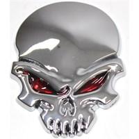 Modacar Chrome Skull 6 Cm Metal Arma 104453