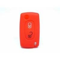 Gsk Peugeot Kumanda Kabı Koruyucu Silikon Kılıf 2 Tuş Kırmızı