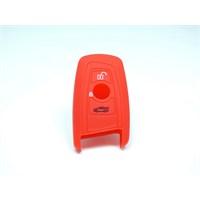 Gsk Bmw 316 Kumanda Kabı Koruyucu Silikon Kılıf 3 Tuş (Kırmızı)