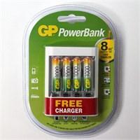 Gp Power Bank U411 950Mah Aaa 4 Adet Pil Usb Free Charger Hediye