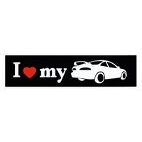 "Z tech "" I Love My "" Siyah Beyaz Sticker 15 x 4 cm"