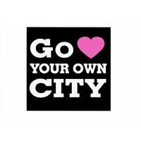 "Z tech "" Go Love Your Own City "" Sticker 9 x 9 cm"