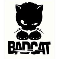 """Z tech """" Bad Cat """" Sticker 12 x 10 cm"""