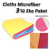 Cloths 1.Kalite Microfiber 3'lü Havlu Kurulama Bezi BK3PK