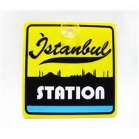 """Z tech """"istanbul station"""" Pleksi Sticker 11x11cm"""