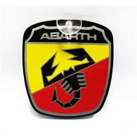 "Z tech ""ABARTH"" Pleksi Sticker 8X9cm"