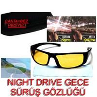 Night Drive Gece Sürüş Gözlüğü Çanta Ve Bez Hediyeli 9712001