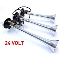 ModaCar 3 Borulu Arap Kornası Havalı Elektrikli Korna 24 VOLT 102335