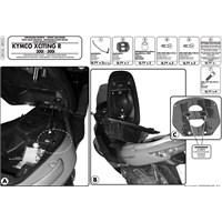 Gıvı Sr91m Kymco Xcıtıng R 300I-500I (09-14) Arka Çanta Tasıyıcı