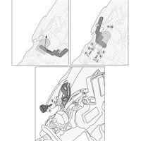 Kappa D5108kıt Bmw R 1200 Gs - R 1200 Gs Adventure (13-15) Rüzgar Sıperlık Baglantısı