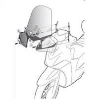 Gıvı D446kıt Yamaha X-Max 125-250 (10-13) Rüzgar Sıperlık Baglantısı
