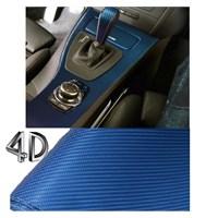 Schwer 4D Hava Kanallı Karbon Folyo 152Cmx4 Metre Mavi