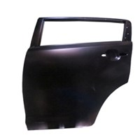Kıa Sportage- 11/16 Arka Kapı Komple L Siyah Boyalı Çelik Barlı