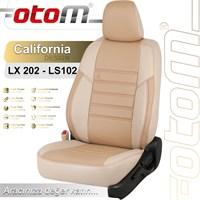 Otom Cıtroen C4 2005-2011 California Design Araca Özel Deri Koltuk Kılıfı Bej-105