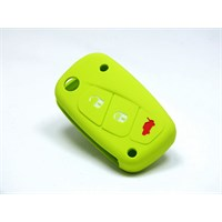 Gsk Fiat Fiorino Kumanda Kabı Koruyucu Silikon Kılıf 3 Tuş ( Yeşil )