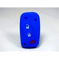 Gsk Fiat Fiorino Kumanda Kabı Koruyucu Silikon Kılıf 3 Tuş ( Mavi )