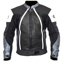 Prosev 8128 Deri Motosiklet Montu (Gri-Siyah)