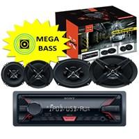 Sony DFB-6913 USBli Oto Teyp ve Hoparlörlü Mega Bass Performans Seti