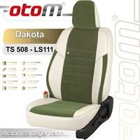 Otom Skoda Super B Sport 2004-2008 Dakota Design Araca Özel Deri Koltuk Kılıfı Yeşil-101