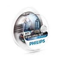 Philips H11 Crystal Vision 12V 55W Far Ampulü (Mavi Park Ampulü İçerir.)