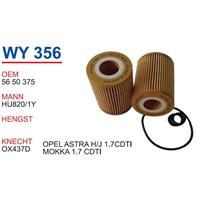 Wunder Opel Astra H Kasa 1.7 Cdtı Yağ Filtresi Oem No:5650375