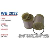 Wunder Ssangyong Actyon 2.0 Xdı 4X4 Mazot Filtresi Oem No:2247634000