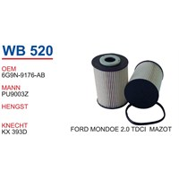 Wunder Ford Mondeo 2.0 Tdcı Mazot Filtresi Oem No:6G9n-9176-Ab