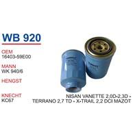 Wunder Nissan X-Trail 2.2 Dcı Mazot Filtresi Oem No:16403-59E00