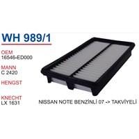 Wunder Nissan Note 2007 >> Takviyeli Hava Filtresi Oem No:16546-Ed000