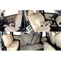 Z tech Volkswagen Amarok 2011 ve sonrası Bej renk Araca özel Oto Koltuk Kılıfı