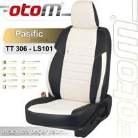 Otom Toyota Yarıs 1999-2005 Pasific Design Araca Özel Deri Koltuk Kılıfı Kırık Beyaz-101