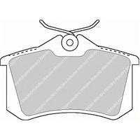 Ferodo Fdb1083 Arka Fren Balatası C3-P307-P1007-Partner Iı-Berlıngo Iı-C3 Pıcasso-C3 Iıı-Ds3-P207 1,4I -1,6I 16V-2,0I-2,0Hd P308-C4-P807-C8 / Meganeıı Iıı-Fluence / Golf Bora Iıı / Audı A1-A3-A4-A6-A
