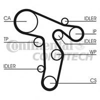 Contitech Ct1134 Trıger Kayısı A3-A4 2,0Tdı 04--> A5-A6 2,0Tdı 08--> Golf V/Vı-Jetta Iıı-Passat Cc 2,0Tdı 08-->