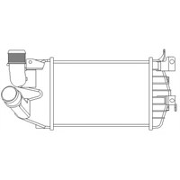 J. Deus 820M59a Turbo Radyatörü (Intercooler) Astra H 1.3Cdtı 05> (262X182x62) (Ac Klimasız)
