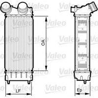 Valeo 818226 Turbo Radyatörü (Intercooler) P308-P3008-P5008-Partner Tepee-C4-Ds4-Berlıngo Iıı (300*150*80)