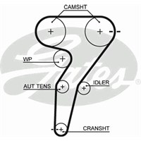 Gates 5429Xs Triger Kayışı (168X240) Fıat Brava-Bravo-Marea-Punto 1.8 16V 95=> Lancıa Alfa Romeo Ct877