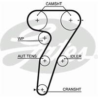 Gates 5472Xs Triger Kayışı (163X240) Alfa Romeo 145 146 1.4 16V (96-01) 156 1.6 16V 00=> Ct1149